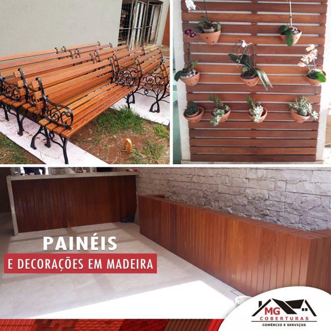 Painéis de madeira para decoração